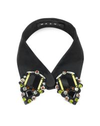 Marni | Black Fabric Collar W/beads In Colored Glass | Lyst