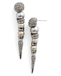 Alexis Bittar | Metallic 'miss Havisham' Encrusted Spike Drop Earrings | Lyst