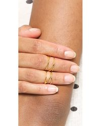 Gorjana - Metallic Isla Ring & Midi Set - Gold - Lyst