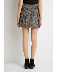 Forever 21 - Black Pleated Mosaic Print Skirt - Lyst