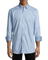 English Laundry | Blue Trim Fit Dress Shirt for Men | Lyst
