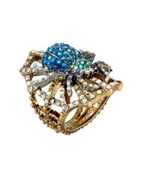 Betsey Johnson | Metallic Spider Lux Ring | Lyst