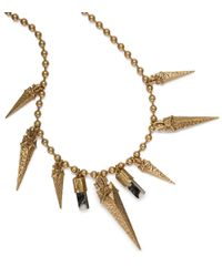 Tory Burch - Multicolor Golden Arrowhead Short Necklace - Lyst