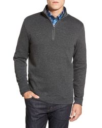 Bugatchi | Gray Quarter Zip Pullover for Men | Lyst