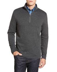 Bugatchi | Gray Quarter Zip Pullover for Men | Lyst