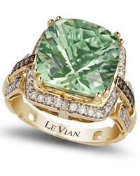 Le Vian | Green Amethyst (6 Ct. T.w.) And Diamond (1/4 Ct. T.w.) Ring In 14k Gold | Lyst