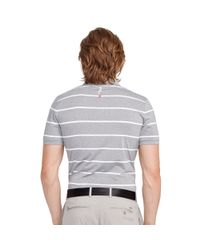 Ralph Lauren - Gray Tailored-fit Striped Polo for Men - Lyst
