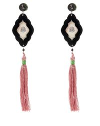 Anna E Alex | Pink Flamingo Safari Deco Wooden Earrings | Lyst