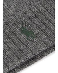 Polo Ralph Lauren - Gray Classic Beanie for Men - Lyst