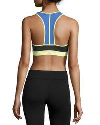 Alo Yoga - Black Chromatic Colorblock Sports Bra - Lyst