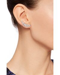 AS29 - Metallic Bamboo Stud Earrings - Lyst