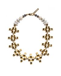 Lizzie Fortunato - White Arena Necklace - Lyst