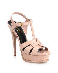 Saint Laurent - Pink 'tribute' Sandals - Lyst
