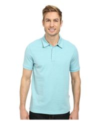 Perry Ellis | Blue Oxford Three-button Polo for Men | Lyst