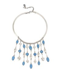 Kenneth Cole | Blue Moonstone Eclipse Stone Fringe Necklace for Men | Lyst