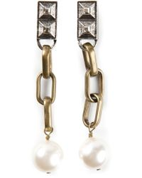 Lanvin | Metallic Drop Earrings | Lyst