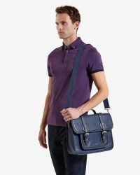 Ted Baker - Blue Satchel Bag for Men - Lyst