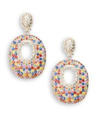Slane | Multicolor Caberet Basketweave Sterling Silver & Sapphire Drop Earrings | Lyst