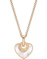 BVLGARI | Metallic - Cuore 18kt Pink-gold And Pearl Necklace | Lyst