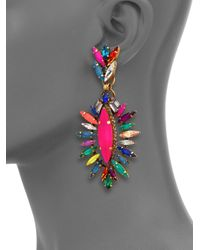 Erickson Beamon | Multicolor 'telepathic' Marquise Cut Crystal Drop Earrings | Lyst
