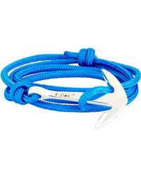 Miansai - Blue Anchor On Rope Bracelet for Men - Lyst