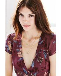 Urban Outfitters | Metallic Femme Fatale Layer Necklace | Lyst