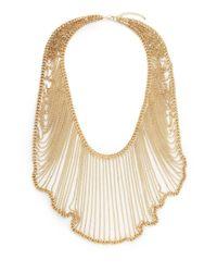 Saks Fifth Avenue - Metallic Graduated Chain Bib Necklace - Lyst