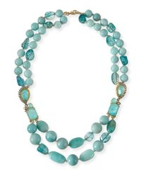 Alexis Bittar - Gilded Muse Dore Blue Sponge Bead Necklace - Lyst