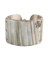 Federica Rettore | White Zebu Horn Bangle | Lyst