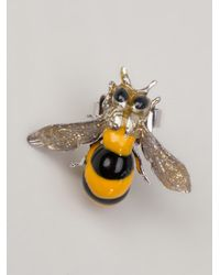 Delfina Delettrez - Yellow Bee Earrings - Lyst
