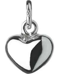 Links of London | Metallic Mini Heart Sterling Silver Charm | Lyst