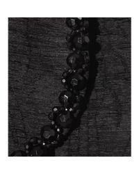 Simone Rocha - Black Embellished Chenille Skirt - Lyst