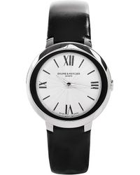 Baume & Mercier | Metallic M0a10185 Promesse Stainless Steel And Leather Watch | Lyst