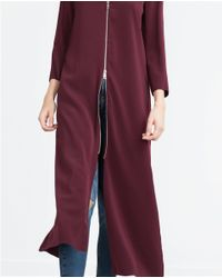 Zara | Purple Midi Dress | Lyst