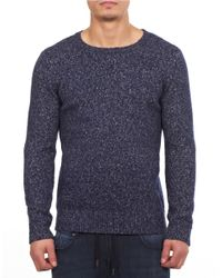William Rast | Blue Crewneck Sweater for Men | Lyst