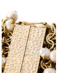 Rosantica - Metallic 'osiris' Pearl Cuff - Lyst