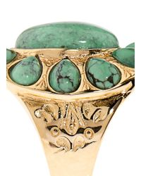 Aurelie Bidermann | Green Natural Stone Ring | Lyst