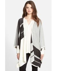 NYDJ - Black Colorblock Blanket Sweater - Lyst