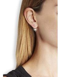 Elizabeth and James | Metallic Astral 22kt Gold-plated Earrings | Lyst