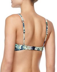 Nanette Lepore - Blue Hula Hibiscus-print Underwire Top  - Lyst