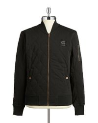 G-Star RAW   Black Quilted Sweater for Men   Lyst