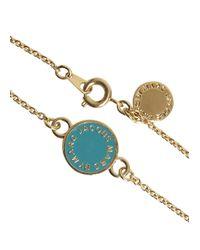 Marc By Marc Jacobs | Blue Turquoise Enamel Disc Bracelet | Lyst