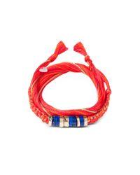 Aurelie Bidermann | Red Takayama Lapis Lazuli Stones And Geranium Thread Bracelet | Lyst