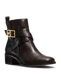 MICHAEL Michael Kors | Black Bryce Leather Boots | Lyst