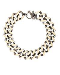 BCBGMAXAZRIA | Gray Chain Collar Necklace | Lyst