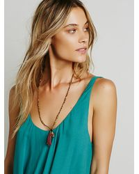 Free People | Green Double Up Cami | Lyst