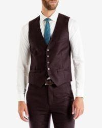 Ted Baker - Purple Debonair Wool Waistcoat for Men - Lyst