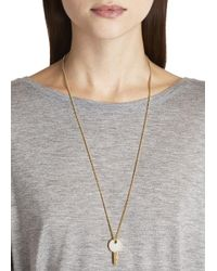 Marc By Marc Jacobs - Metallic Lock In Gold Tone Key Necklace - Lyst