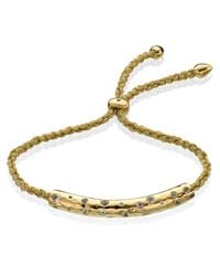 Monica Vinader | Metallic Esencia Scatter Friendship Bracelet | Lyst