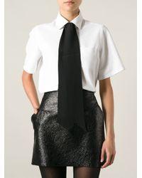 Saint Laurent - Black Tie Design Scarf - Lyst